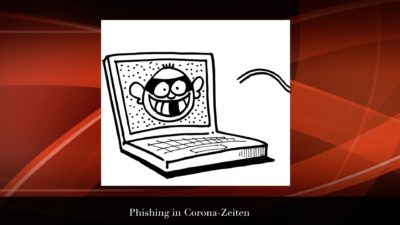 Laptop mit Gaunerfratze